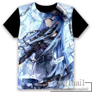 6def8274f38d Details about Akame ga KILL! Anime Otaku Cosplay Black Unisex T-shirt Tops  Birthday Gift #G34