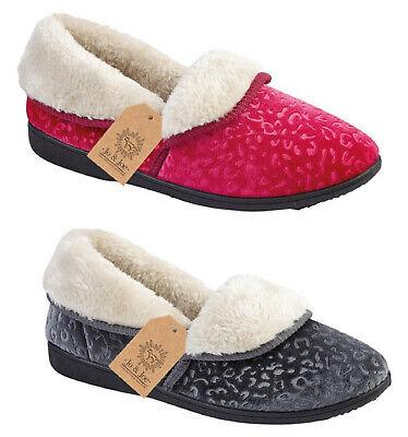 6c220e927 Details about Womens Slippers Jo & Joe Ladies Girls Fleece Slipper Boots  Booties - RRP £29.99