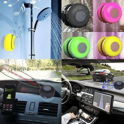 Mini Waterproof Wireless Bluetooth Handsfree Mic Suction Speaker Shower Car