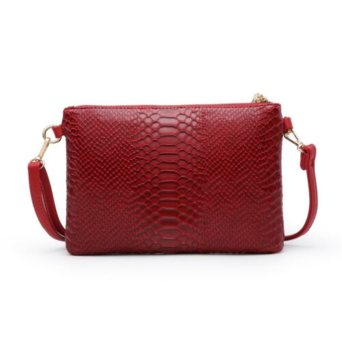 Woman Neo Small synthetic leather Messenger Cross Body Shoulder Bag Snake Skin