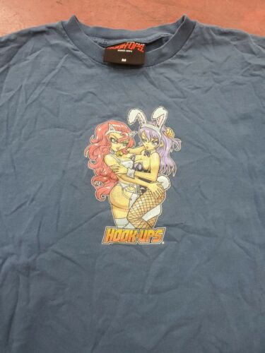 VTG 90s Hook-Ups shirt Skateboards shortys world i