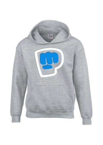 Pewdiepie Kids Hoodie Boy Girl Youtuber Vlogger Hooded Top Fist Bro Gamer Shirt
