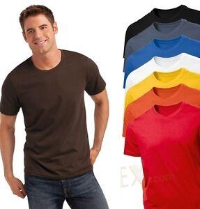 Hanes-Hombre-Liso-Verano-Peso-Camiseta-De-Algodon-Camiseta-s-3xl-No-Logo