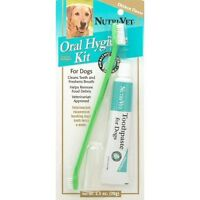 Nutri Vet Oral Hygiene Kit Toothpaste Finger Brush Dog 87491 Breath