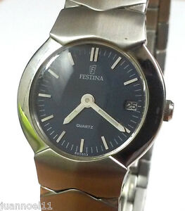 Reloj-pulsera-mujer-FESTINA-Quartz-665503-fecha-dial-azul-Original-Nuevo