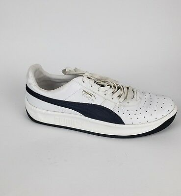 outlet store b9f9e 32b3c Puma GV Special Mens Size 11 White Navy Leather Casual Lace Up Sneakers  Shoes | eBay