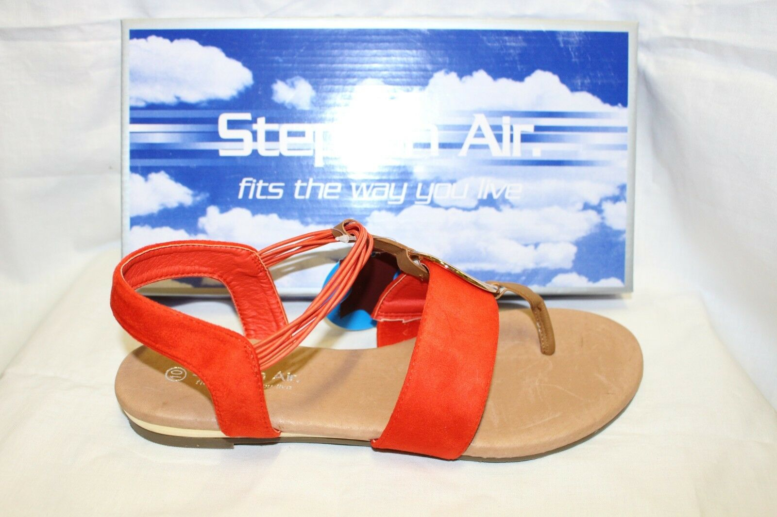 LADIES SHOES FOOTWEAR - Step on Air sandal thong Musk coral