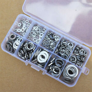 260pc-Stainless-Steel-Flat-Spring-Washers-Assortment-Steel-Lock-Washer-Set