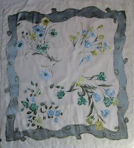 Authentique-Foulard-en-mousseline-RENATO-BALESTRA-soie-TBEG-vintage-scarf
