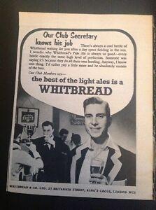 Ephemera 1953 Advert Whitbread Best For The Club Light Ales M485 - Leicester, United Kingdom - Ephemera 1953 Advert Whitbread Best For The Club Light Ales M485 - Leicester, United Kingdom