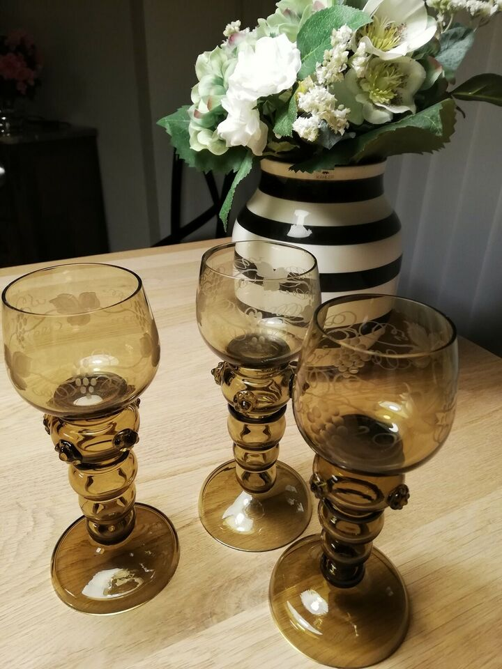 Glas, 10 stk Rømer glas