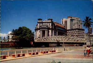 SINGAPORE-Singapur-Fullerton-Building-General-Post-Office-Postkarte-AK-ungelauf