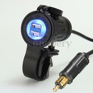 motorcycle bike dual usb adapter charger for bmw truck. Black Bedroom Furniture Sets. Home Design Ideas