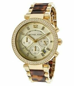 Michael-Kors-Women-039-s-MK5688-Parker-Brown-Crystal-Accented-Watch