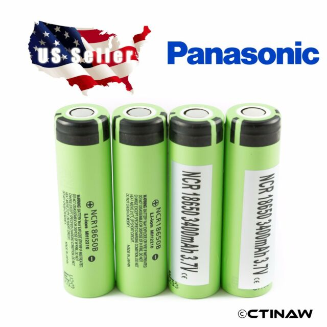 4x Genuine Panasonic 18650 3400mAh 3.7V Li-ion rechargeable battery - NCR18650B