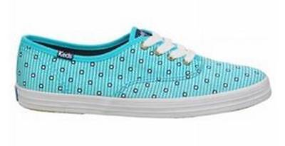 Women's TAYLOR SWIFT for KEDS CHAMPION Lace Up Sneaker Blue Dot Stripe Canvas