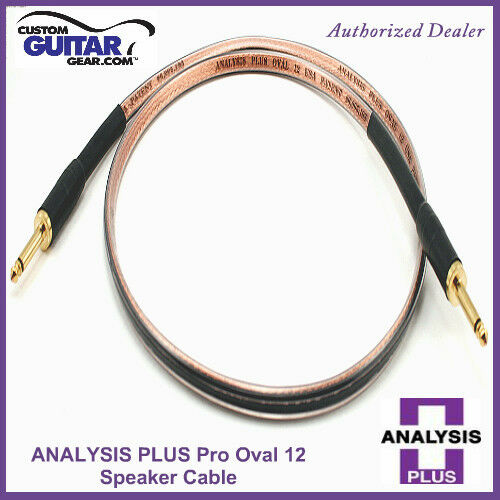 Analysis Plus Pro Oval 12 Guitar Amp Speaker cable 10FT - straight Angle Plugs