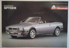 MASERATI BITURBO SPYDER orig 1991 UK Mkt Sales Leaflet Brochure in English