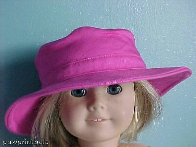 "SOFT /""POSEABLE/"" STRAW HAT in CREAM fits American Girl /& Bitty Baby//Twins"