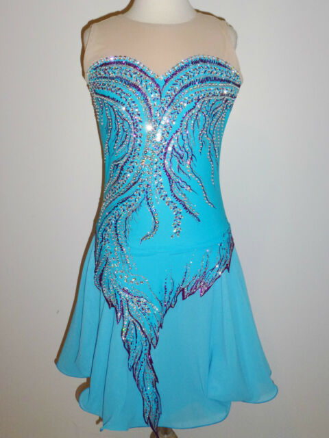 CUSTOM MADE TO FIT FIGURE ICE SKATING/ DANCING/ BATON/ TWIRLING COSTUME