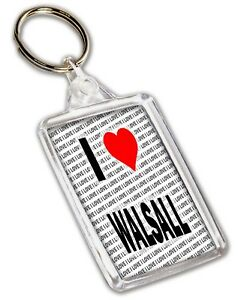 I Love Walsall Keyring Gift Stocking Filler Birthday