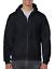 Gildan Men/'s Fleece Zip Hooded Sweatshirt Black X-Large