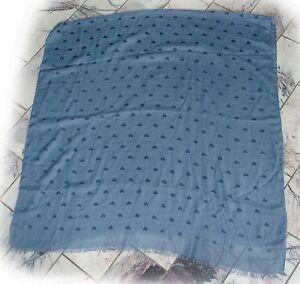 Schal-grosses-Tuch-70-Viskose-tolle-Qualitaet-jeansblaue-Herzchen