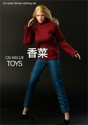 NEW TBL UD CJG-W011 Knit turtleneck sweater 1//6 hot figure toys female sweater