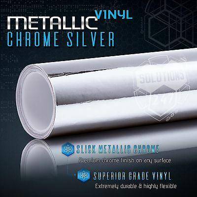 "60/""x108/"" In Gold Chrome Mirror Vinyl Wrap Film Roll Sheet Decal Air Bubble Free"