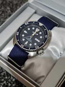 MINT+BOXED Seiko Turtle SRP773 Prospex BLUE rare + NATO strap, divers watch 200m