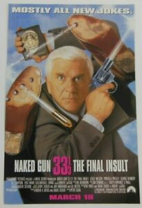 DAMAGED Naked Gun 33 1/3 Print Ad PROMO Art Movie Poster ...
