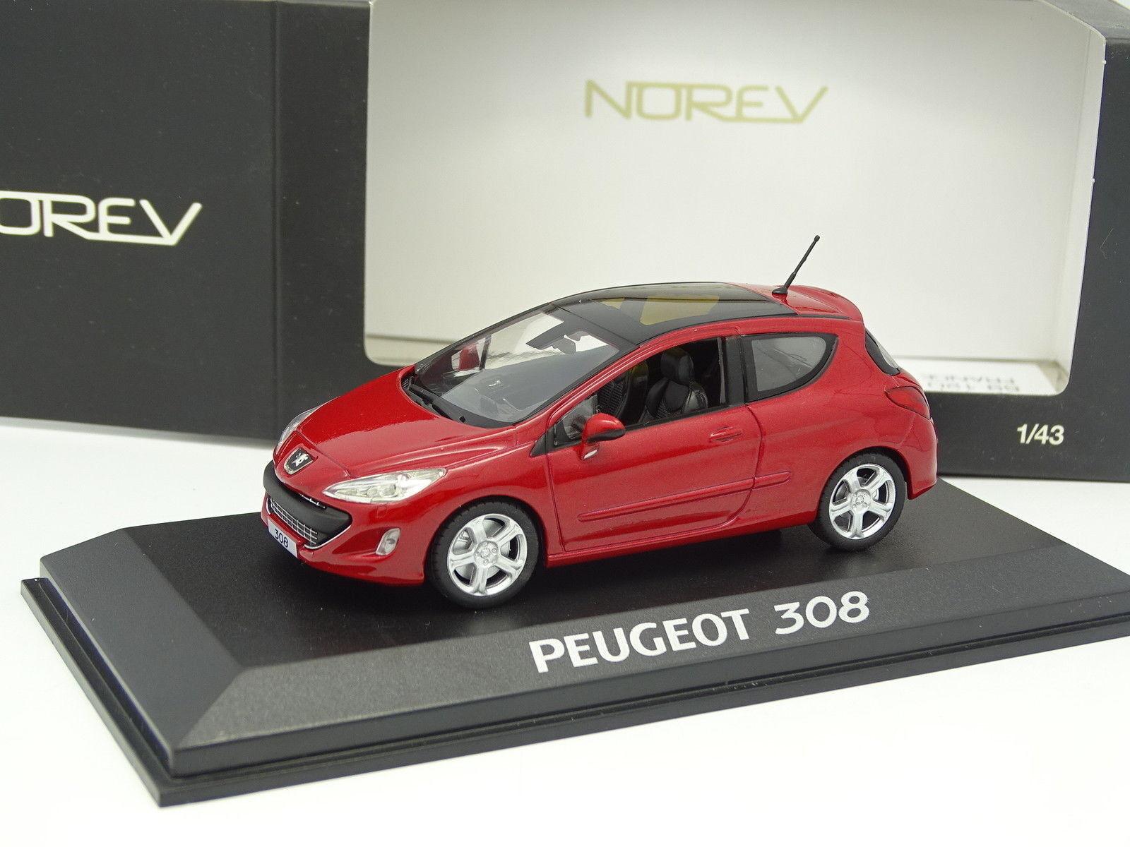 Norev 1 43 - Peugeot 308 3 Porte red
