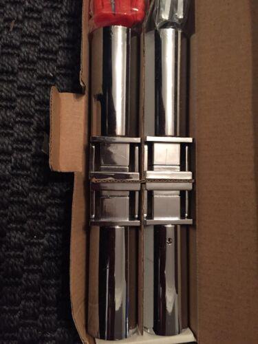 STAFFE universali per binario calorifero radiatore cromato piatto x 4 QUADRATO MODERNO
