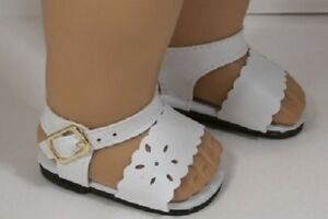 9b23ce6f17ccaa WHITE Summer Sandals Doll Shoes For 18