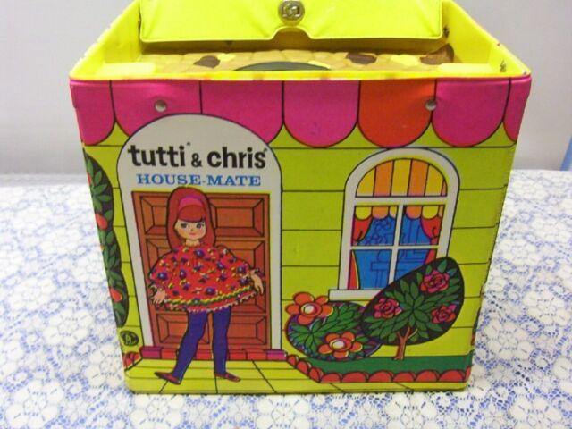 Vintage Barbie TUTTI & CHRIS DOLL PLAY HOUSE CASE Brand New NRFB MIB MIP MOC