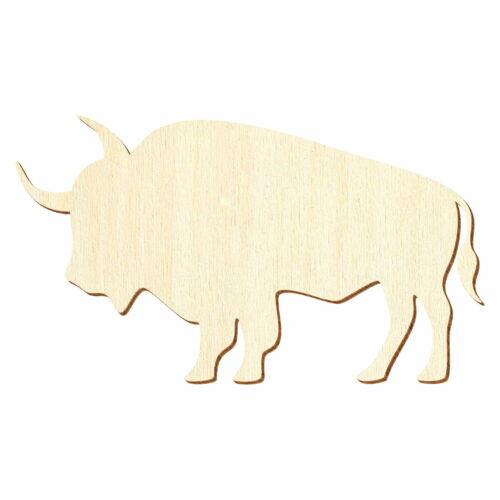 Basteln Deko 3-50cm Breite Holz Büffel