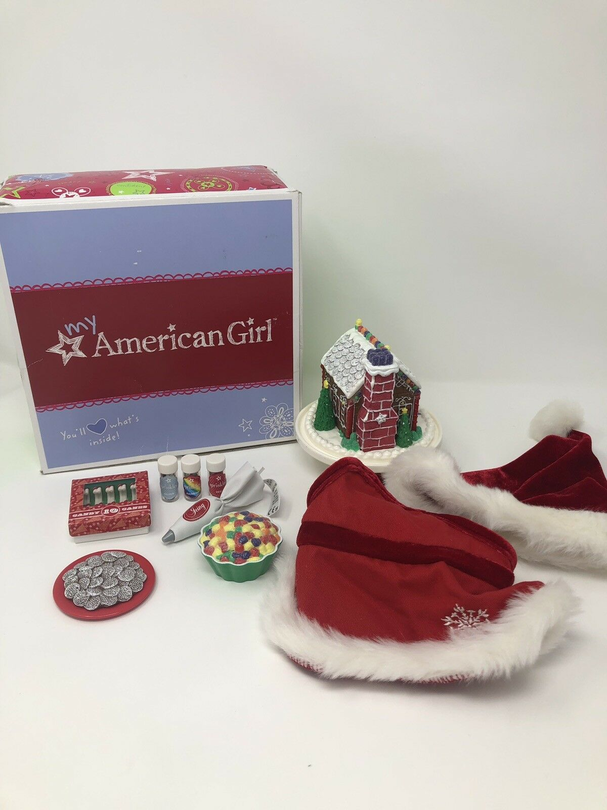 American Girl Doll Sugar & Spice Holiday Baking Baking Baking Set and Holiday Treat Set EUC b368d1