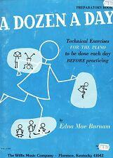 1957 & 76  Edna-Mae Burnam A Dozen A Day Piano Preparatory & Mini books SCARCE