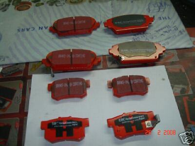 ROVER MG ZR ZS BRAKE PADS EBC RED STUFF FRONT /& REAR