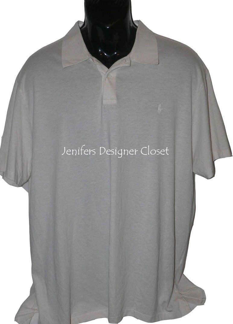 NWT POLO RALPH LAUREN XXL 2XL  casual polo shirt ivory featherweight soft