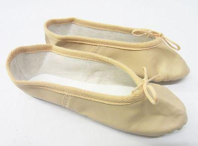 Niña Rosa Cuero Danza Ballet Zapatos