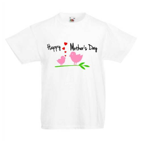 Happy Mother/'s Day Birds Kid/'s T-Shirts Children/'s Cute Mothers Day Top