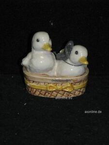 + # A001425_15 Goebel Archive Motif Deux 2 Canard Duck Dans Panier 32-071 Tmk6 Dispositif De Sécurité-afficher Le Titre D'origine