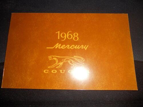 1968 MERCURY COUGAR FACTORY OWNERS MANUAL