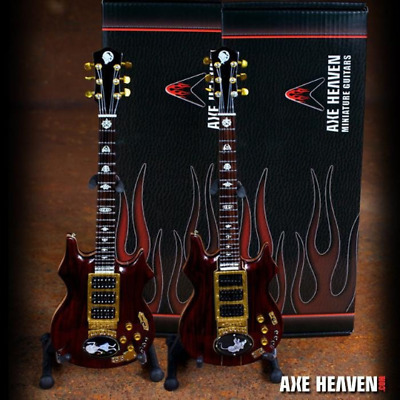 Mini Guitars Grateful Dead Collectible SET of 2 Jerry Garcia Rosebud /& Tiger