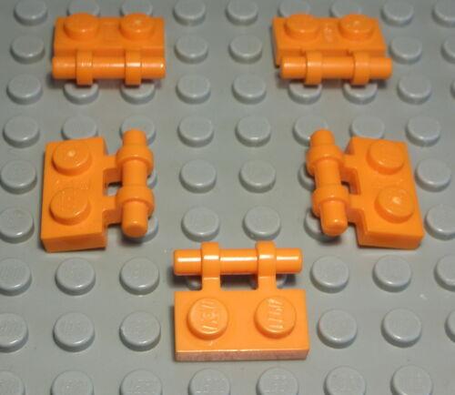 Lego Platte mit Griff 1x2 Orange 5 Stück 473 #