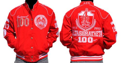 Delta Sigma Theta Sorority Red Race Jacket DST 1913 100 YEAR CENTENNIAL JACKET