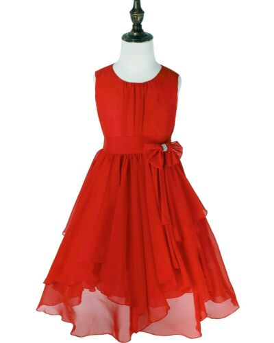 Flower Girl Dress Pleated Princes Party Pageant Birthday Wedding Bridesmaid Gown