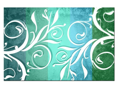 Canvas on stretcher A05148 Pattern Coloured Turquoise Deco