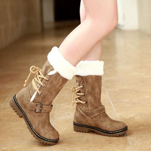 Women Winter Boots Snow Boot Fur Warmer Insulated Waterproof Midi Calf Ski Shoes